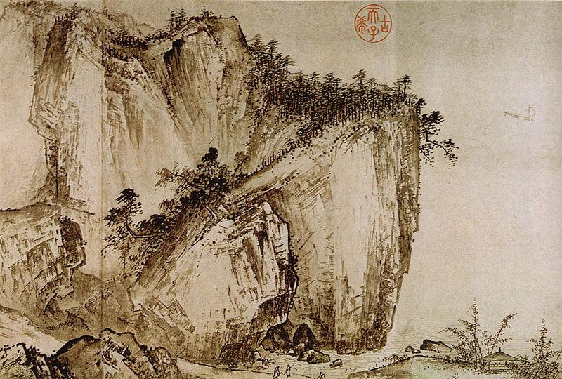 Ся Гуй Вид издалека на ручьи и горы. Фрагмент.