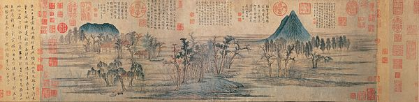 600px-2a_Zhao_Mengfu_Autumn_Colors_on_the_Qiao_and_Hua_Mountains_(central_part)Handscroll,_ink_and_colors_on_paper,_28.4_x_93.2_cm_National_Palace_Museum,_Taipei