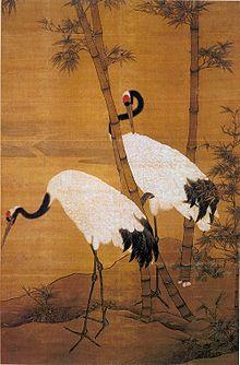 Бянь Цзинчжао. Бамбук и журавли. Гугун, Пекин.