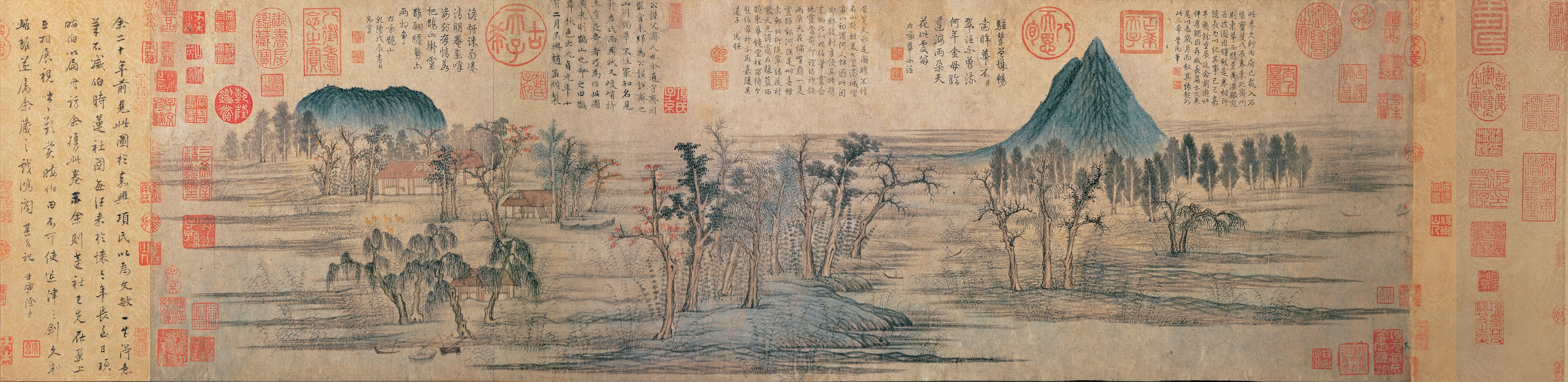 Чжао Мэнфу «Осенние краски вокруг гор Цяо и Хуа» (1296, Гугун, Тайбэй)