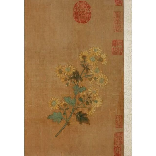 Десять хризантем.Деталь. 1300-1310, Сотбис