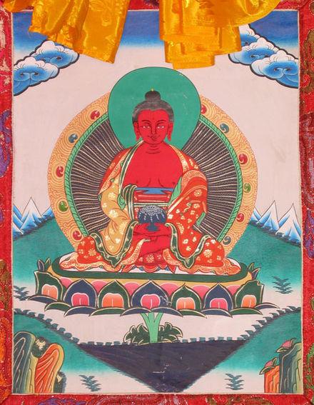 Тибетская тханка Амитабхи