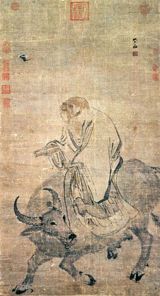 Лао Цзы на быке. Чжан Лу