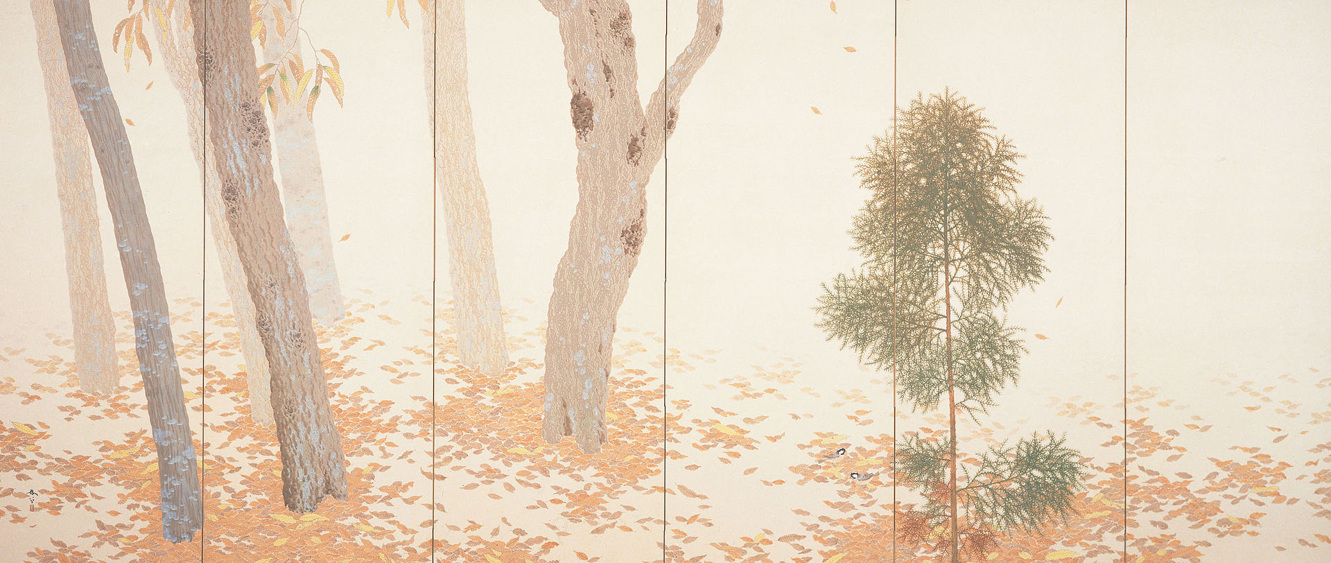 Хишида Шунсо Hishida Shunsō (1874-1911) Листопад
