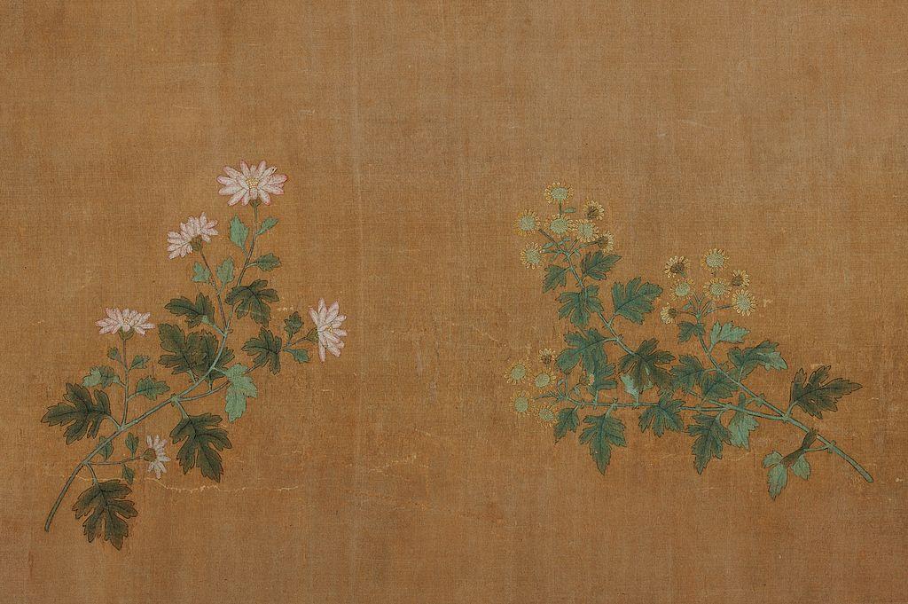 Чжао Мэнфу. Десять хризантем.Деталь. 1300-1310, Сотбис